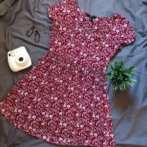Forever 21 Red Floral BabyDoll Dress